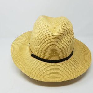 Calvin Klein hat woven tan paper with black band